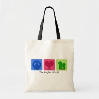 Peace Love Bichon Bags