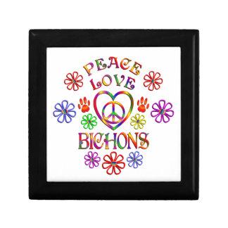 Peace Love Bichons Jewelry Box