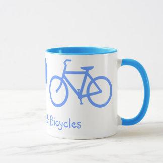 Peace, Love & Bicycles Mug