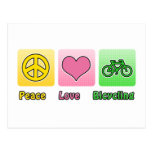 Peace Love Bicycling Postcards