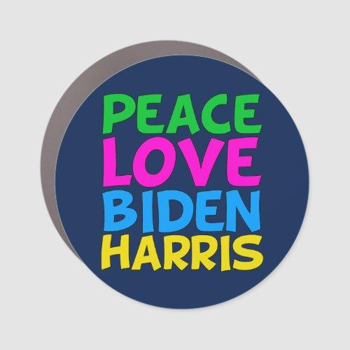 Peace Love Biden Harris Car Magnet
