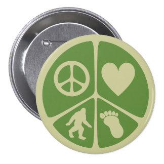 Peace Love Bigfoot Pin