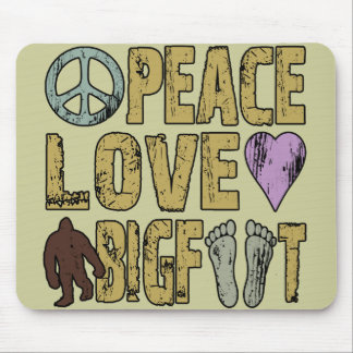 Peace Love Bigfoot Mouse Pad