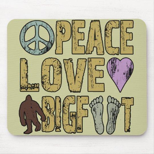 Peace Love Bigfoot Mouse Pad