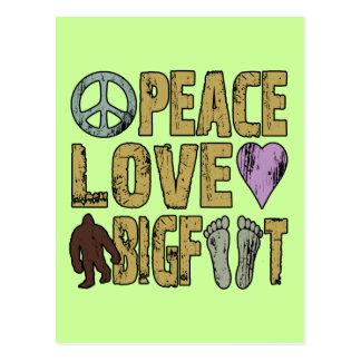 Peace Love Bigfoot Post Cards