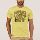 Peace Love Bigfoot T-Shirt