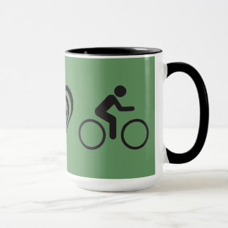 peace love bike mug