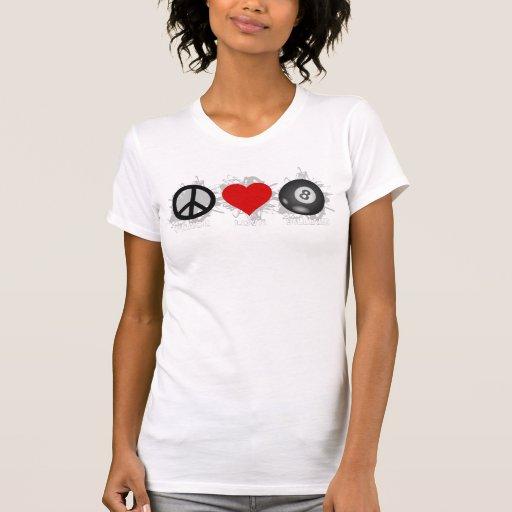 Peace Love Billiard Emblem Tanks