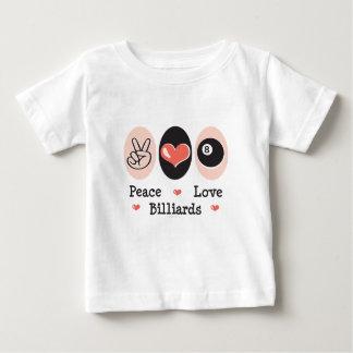 Peace Love Billiards Baby T-shirt