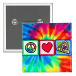 Peace, Love, Billiards Button