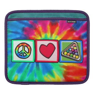 Peace Love Billiards Sleeves For iPads