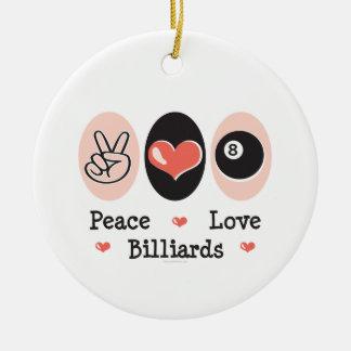 Peace Love Billiards Ornament