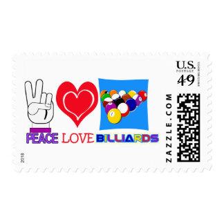 PEACE LOVE BILLIARDS POSTAGE