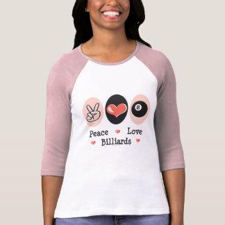 Peace Love Billiards Raglan Tee