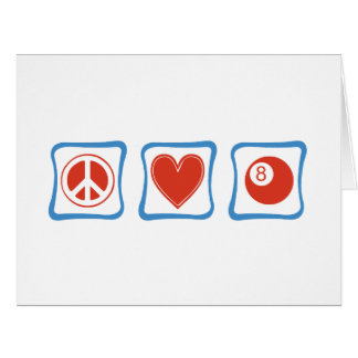 Peace Love Billiards Squares Large Greeting Card