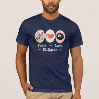 Peace Love Billiards Tee Shirt
