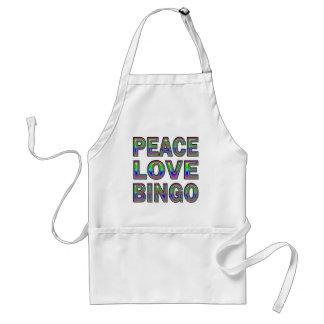 PEACE LOVE BINGO ADULT APRON