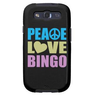 Peace Love Bingo Galaxy S3 Cover