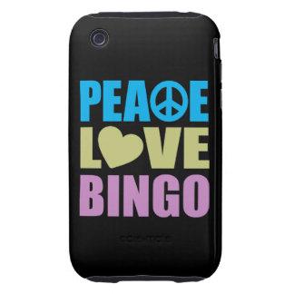 Peace Love Bingo iPhone 3 Tough Covers