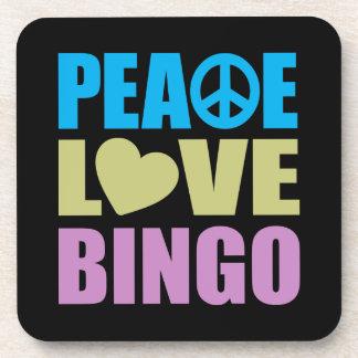 Peace Love Bingo Coasters