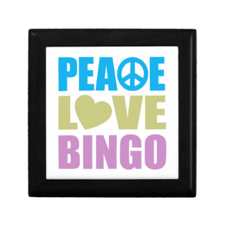 Peace Love Bingo Trinket Box