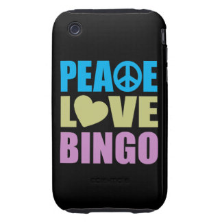 Peace Love Bingo iPhone 3 Tough Cover