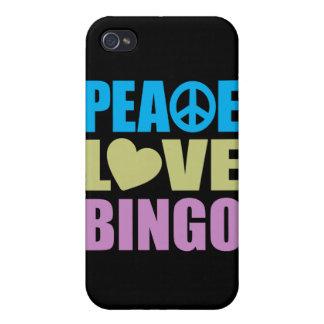 Peace Love Bingo iPhone 4 Covers