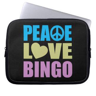 Peace Love Bingo Computer Sleeve