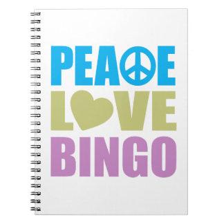 Peace Love Bingo Note Books