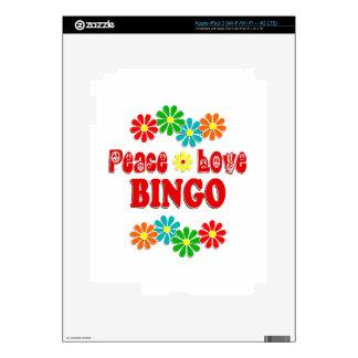 Peace Love Bingo Skin For iPad 3