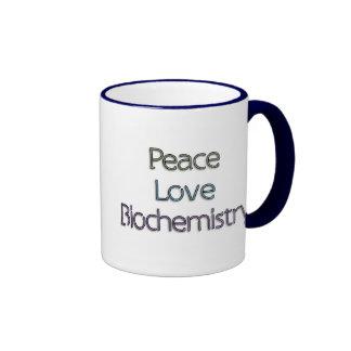Peace, Love, Biochemistry Coffee Mugs