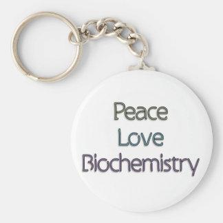 Peace, Love, Biochemistry Keychain