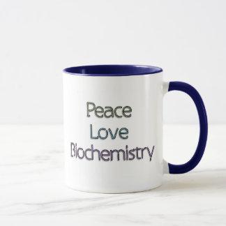 Peace, Love, Biochemistry Mug