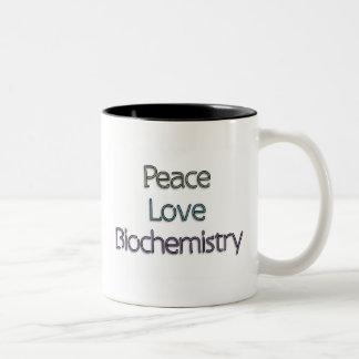 Peace, Love, Biochemistry Mugs