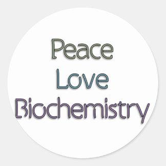 Peace, Love, Biochemistry Sticker