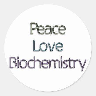 Peace, Love, Biochemistry Stickers