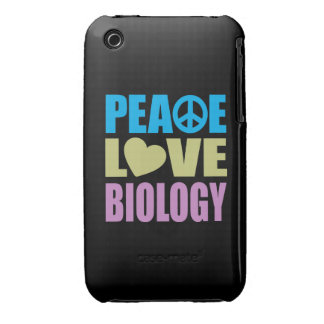 Peace Love Biology iPhone 3 Case-Mate Cases