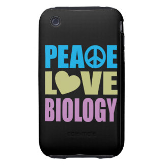 Peace Love Biology Tough iPhone 3 Cases