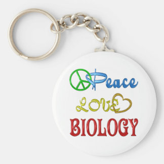 PEACE LOVE BIOLOGY KEY CHAINS