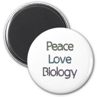 Peace Love Biology Refrigerator Magnets