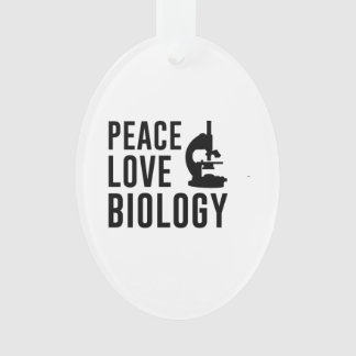 Peace Love Biology Ornament