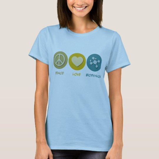 Peace Love Biophysics T-Shirt