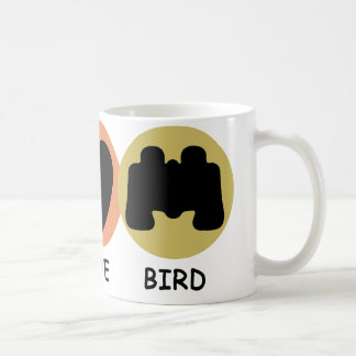 Peace Love Bird Coffee Mug