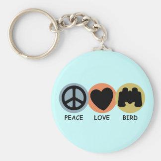 Peace Love Bird Keychain