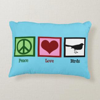 Peace Love Birds Accent Pillow