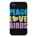 Peace Love Birds iPhone 4 Case