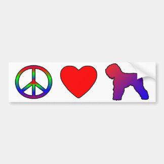 Peace Love Black Russian Terriers Bumper Sticker