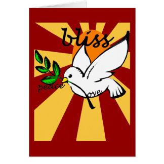 Peace, Love & Bliss Card