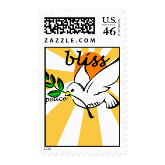 Peace Love Bliss Postage