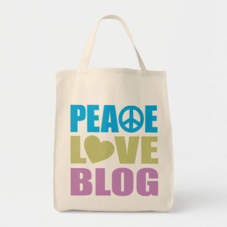 Peace Love Blog Grocery Tote Bag